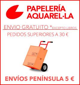 Envío gratuito a partir de 30 euros excepto libros
